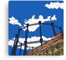 Regent's Canal Gas Tower Canvas Print