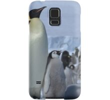 Emperor Penguin and Chicks - Snow Hill Island  Samsung Galaxy Case/Skin