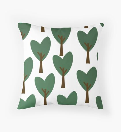Bunch of Trees Throw Pillow