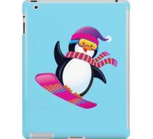 Cute Penguin Snowboarding iPad Case/Skin