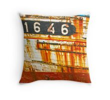 Wooden Shipwrecks Throw Pillow
