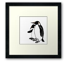 Penguins Deep In Thought Framed Print