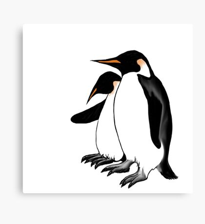 Penguins Deep In Thought Canvas Print