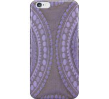 Purple Circles Cloth Texture  iPhone Case/Skin