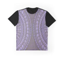 Purple Circles Cloth Texture  Graphic T-Shirt