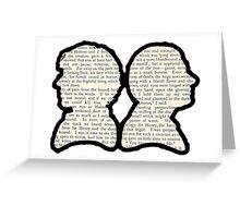 Sherlock and Watson - BBC Greeting Card