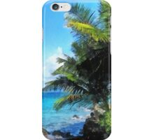 Palm Trees and Beach St. Thomas VI iPhone Case/Skin