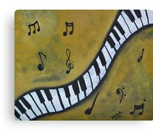 Piano Music Abstract Art By Saribelle Canvas Print