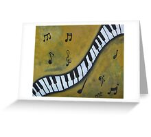 Piano Music Abstract Art By Saribelle Greeting Card