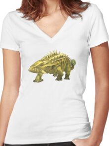 Talarurus Women's Fitted V-Neck T-Shirt