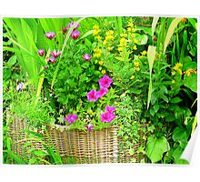 A Basket Of Blooms Poster