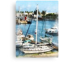 Boats at King's Wharf Bermuda Canvas Print