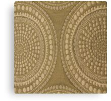 Brown Circles Cloth Texture Canvas Print