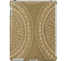 Brown Circles Cloth Texture iPad Case/Skin