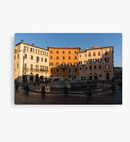 Rome's Fabulous Fountains - Fountain of Neptune, Piazza Navona, Rome, Italy Canvas Print