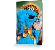 Cookie Monster Says hi Greeting Card