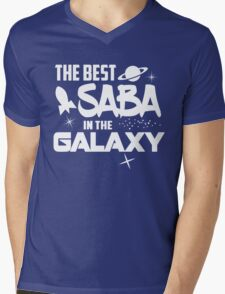 The Best Saba in the Galaxy - Sci-Fi Hebrew Jewish Gift Mens V-Neck T-Shirt
