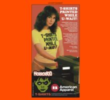 HORRORKID Retro Advertisement Linda Lusardi T-Shirt by horrorkid