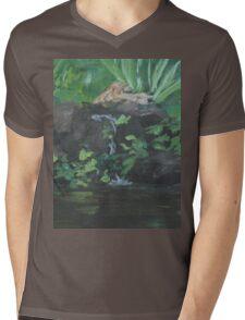 Fountain at the Zoo AC151223b-13 Mens V-Neck T-Shirt