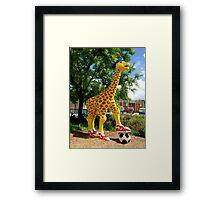 Athletic Giraffe Framed Print