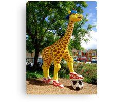 Athletic Giraffe Canvas Print