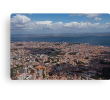 Flying Over Lisbon, Portugal Canvas Print