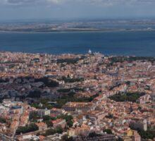 Flying Over Lisbon, Portugal Sticker