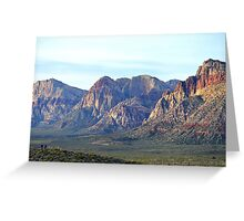 """""""Red Rock Canyon - Scale"""" Greeting Card"""