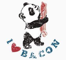 I Love Bacon - Panda Baby Tee