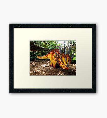 Creative Dinosaur Framed Print