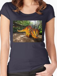 Creative Dinosaur Women's Fitted Scoop T-Shirt