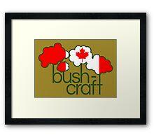 Bushcraft Canada flag Framed Print