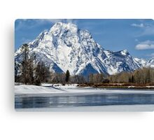 Mt Moran from Oxbow Bend Canvas Print