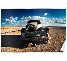 Namib Desert Wreck Poster