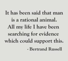 Bertrand Russell Rational Mankind T shirt by polymorpha