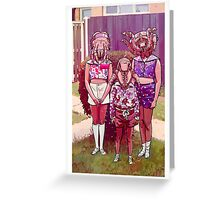 Darling Creatures III Greeting Card