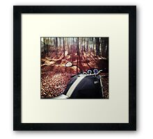 A Monster in The Wood Framed Print