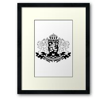 Bulgarian Crest - Black Framed Print