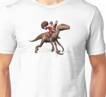 Santa Claus Riding On Deinonychus Unisex T-Shirt
