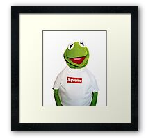 Supreme Kermit the Frog Framed Print