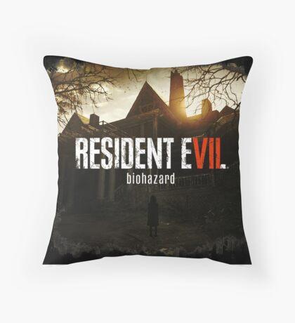 Resident Evil 7 Biohazard Dark Throw Pillow