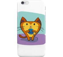 Cat With Yarn iPhone Case/Skin