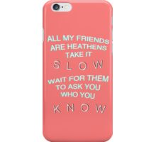 Heathens Lyrics (Twenty One Pilots)  iPhone Case/Skin