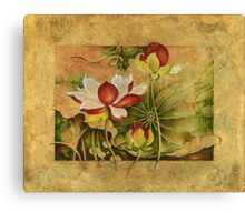 """Growing in Happiness"" from the series ""In the Lotus Land"" Canvas Print"