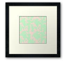 Mint and Pink 90s Framed Print