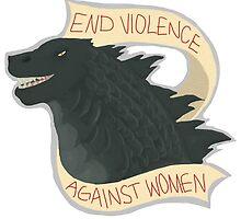 Feminist Godzilla by Sarah Thomas