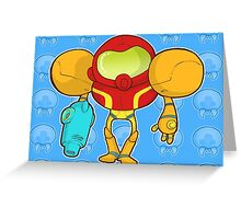 Samus Blue Greeting Card