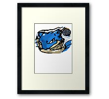 Blastoise Pokemon Framed Print