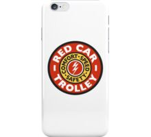 Red Car Trolley - Smaller Logo iPhone Case/Skin
