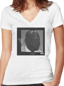 ScHoolboy Q Blank Face LP  Women's Fitted V-Neck T-Shirt